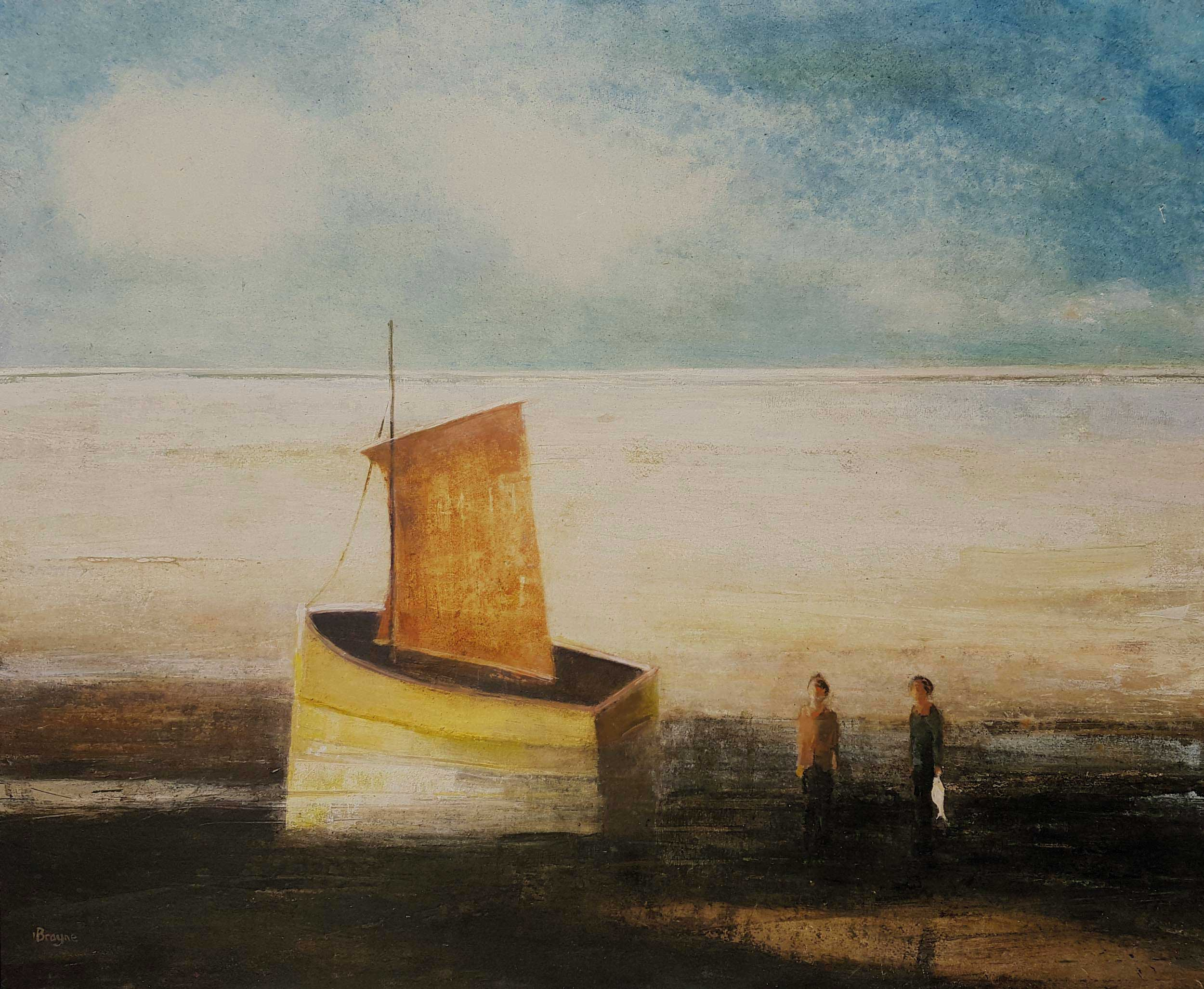 Waiting for the Tide by David Brayne RWS