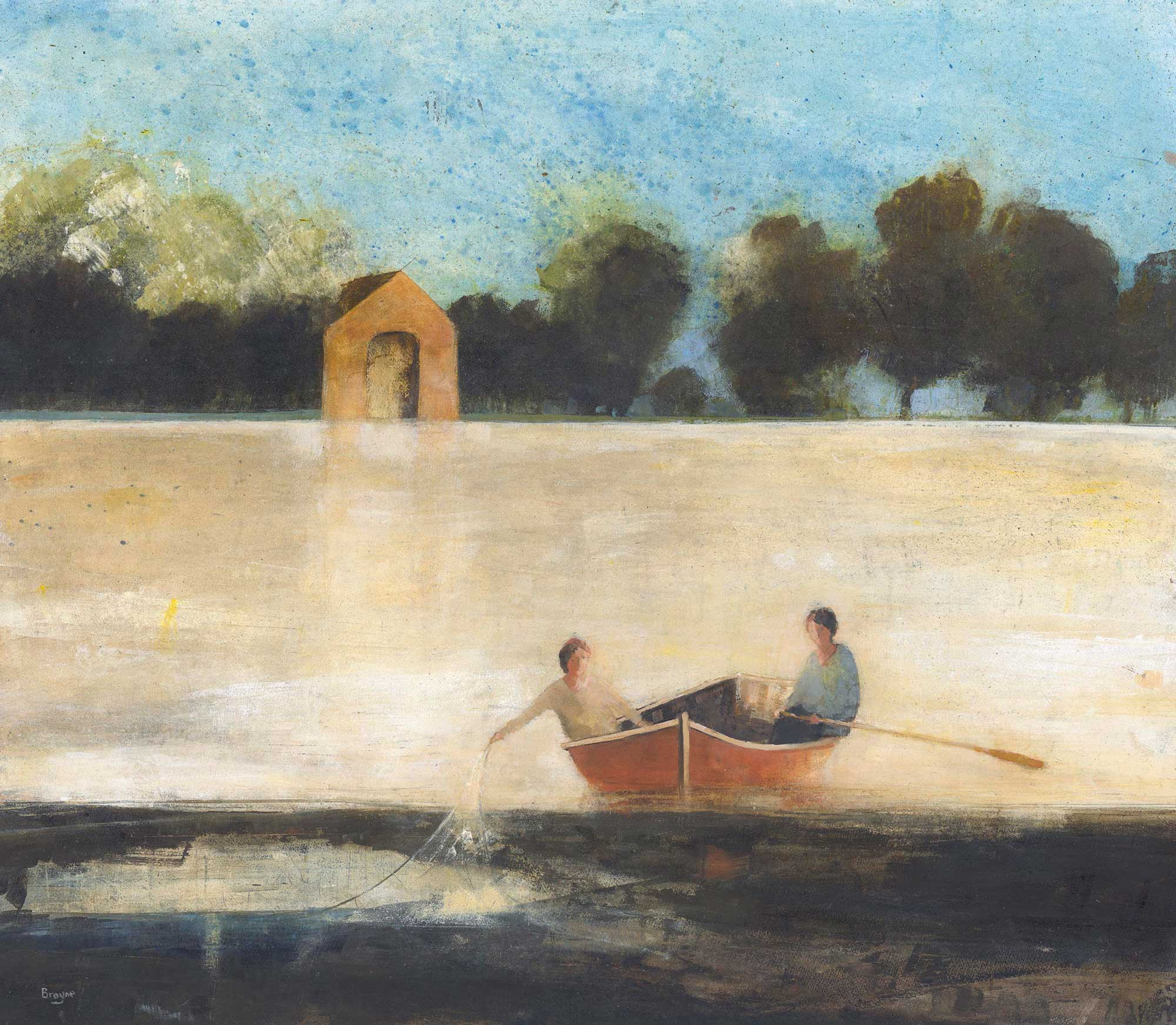 The Boat House by David Brayne RWS