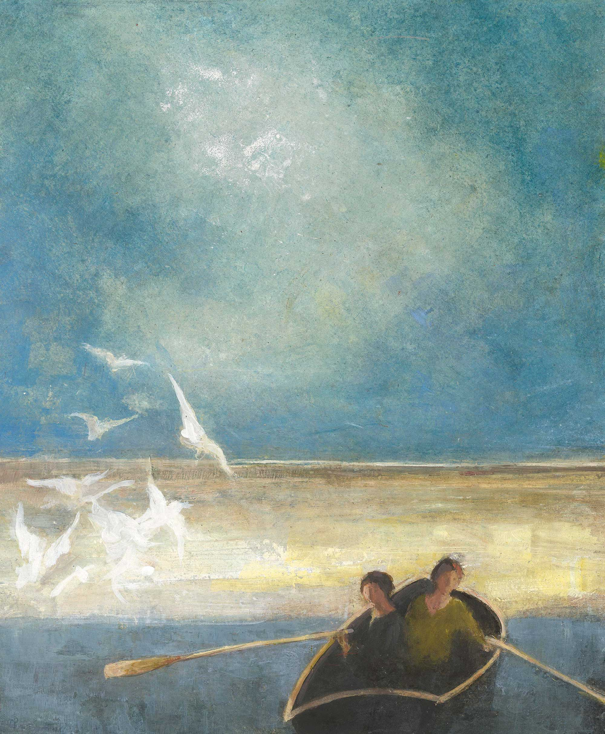 Grey Gulls by David Brayne RWS