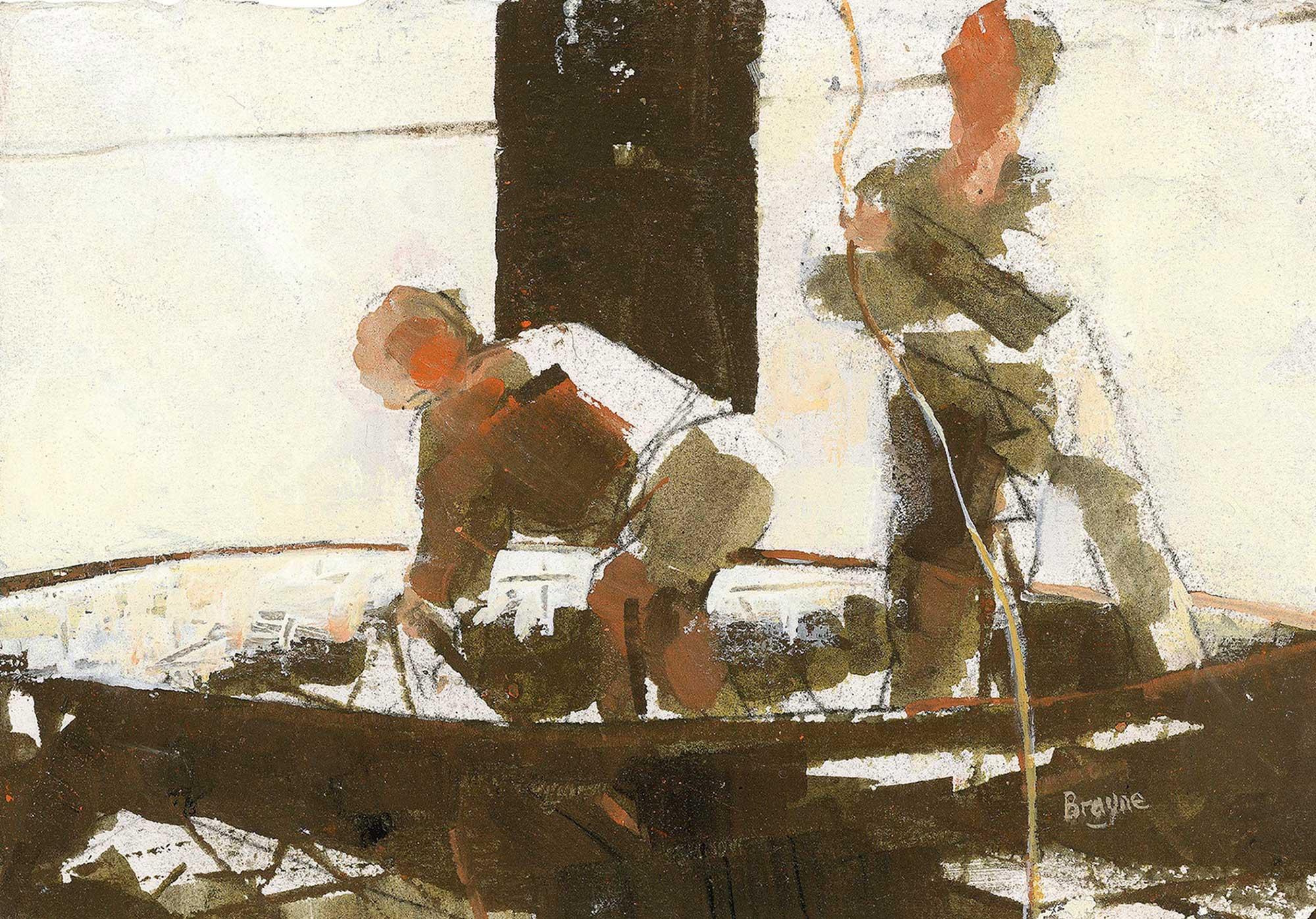 Hauling Nets by David Brayne RWS